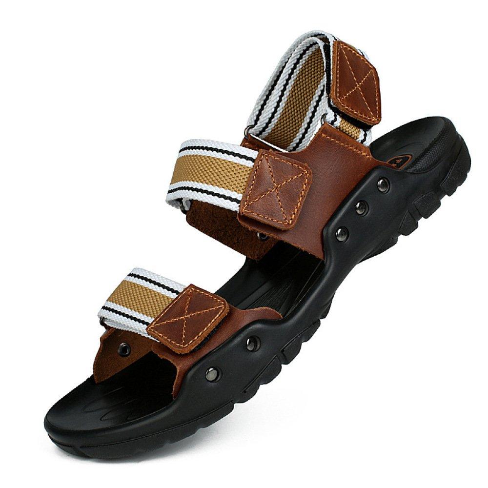 Sandalias De Verano para Hombres Velcro Peep Toe Sandalias Casuales Sandalias para Caminar Al Aire Libre Transpirables Sandalias para Caminar 38 EU Yellow