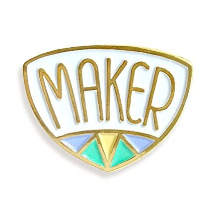 Amazon com: Maker Enamel Pin: Home & Kitchen