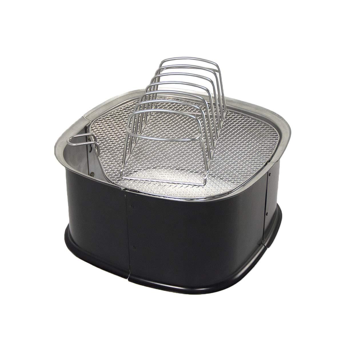 Charcoal Companion CC5174 Smoker Accessory, Black/Silver