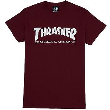 8e33110d159 Amazon.com  Thrasher Skate Mag Logo T-Shirt (Maroon) (Large)  Home ...
