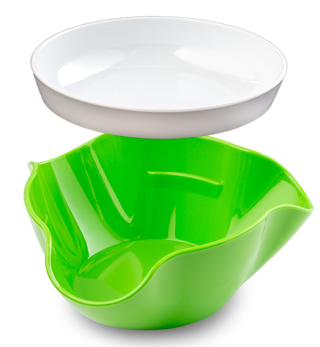 Pistachio Bowl with Shell Storage - Double Dish Snack Serving Bowl - for Pistachios, Peanuts, Edamame, Cherries, Nuts, Fruits, Candies - by Kitchen Winners by Kitchen Winners (Image #2)