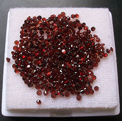 2mm Natural Red Garnet Calibrated Size Faceted Cut Round Red Color Natural Loose Gemstone 25 Pieces Lot (Five Faceted Gemstone)