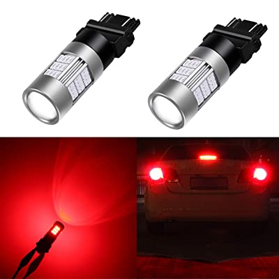 Alla Lighting T25 3156 3157 Red LED Bulbs Super Bright 4014 54-SMD 12V 3056 3047 3057 4057 Blinker Turn Signal Brake Stop Tail Lights Bulbs for Cars, Trucks, Motorcycles: Automotive