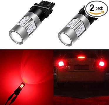 Alla Lighting 3156 3157 Red LED Bulbs Super Bright T25 3156 3057 4057 3157 LED Bulb High Power 2835 SMD 12V LED 3156 3057 3157 Bulb for Cars Trucks Motorcycle Turn Signal Brake Stop Tail Lights Bulbs