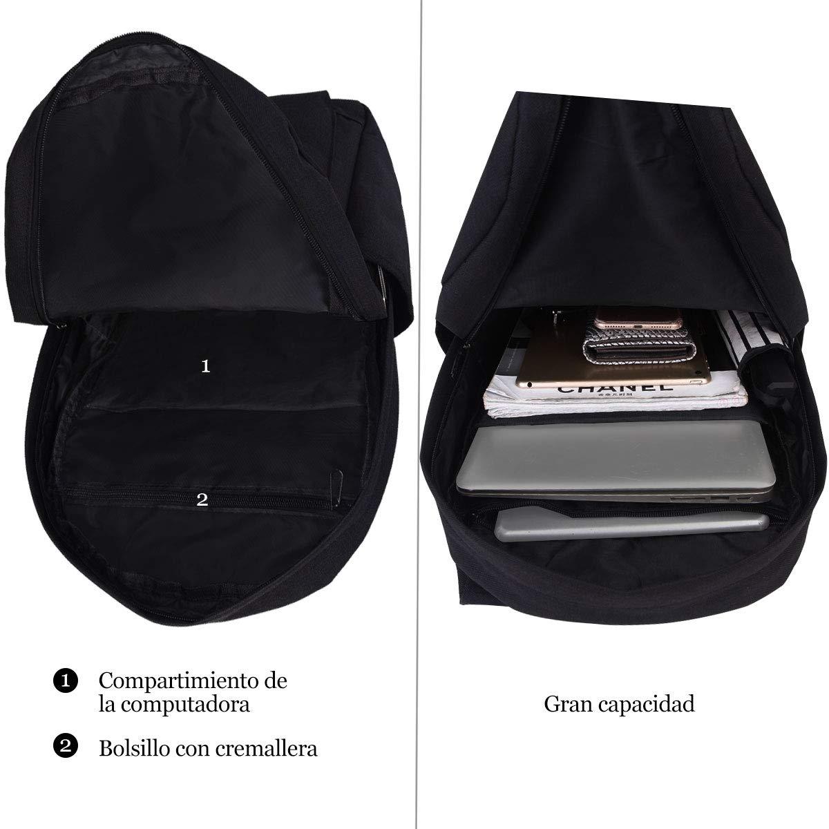 Sportlove Mochila para Port/átil 15,6 Pulgadas Negocio Backpack Escuela del Trabajo Diario Estudio para Hombre Mujer Estudiante Gris