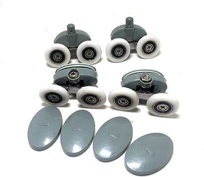 8 rodamientos/corredores/ruedas de 25 mm para mampara de ducha doble de nailon: Amazon.es: Bricolaje y herramientas