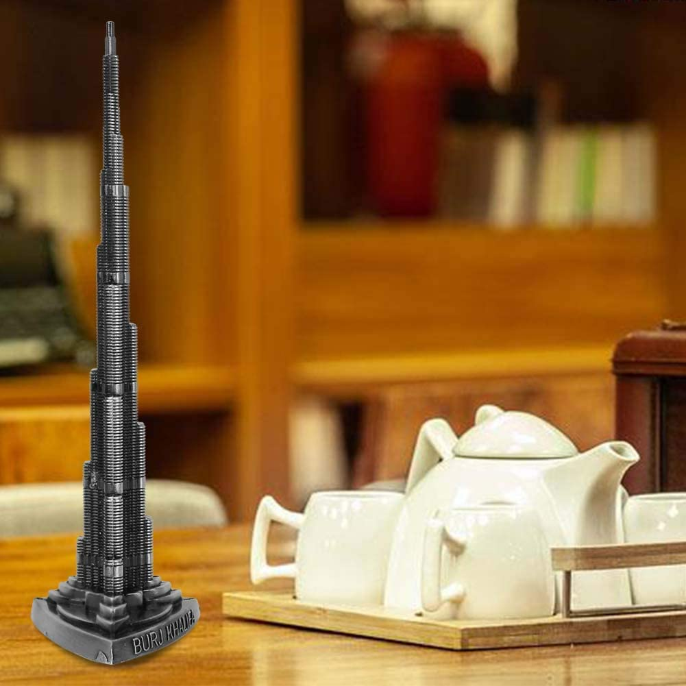 Yongfer Tower Model-Burj Khalifa Tower Model Alloy Miniature Dubai Tower Model Arts Craft Office Home Desktop Decor