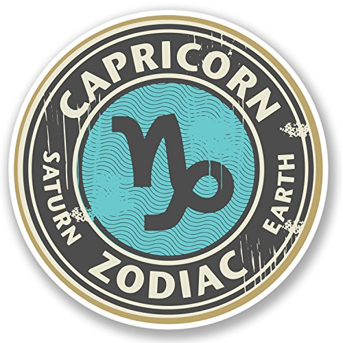 2 x Capricorn Star Sign Vinyl Stickers ()