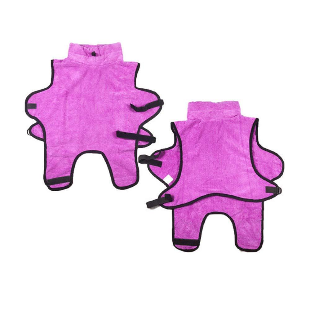 Pink X-Large Pink X-Large Microfiber Pet Towel Bath Robe Cat Dog Bath Special Bathrobe,Pink,XL