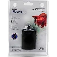 Marina Calentador para Bettas, Metal, Negro, 1 Unidad (Paquete de 1)