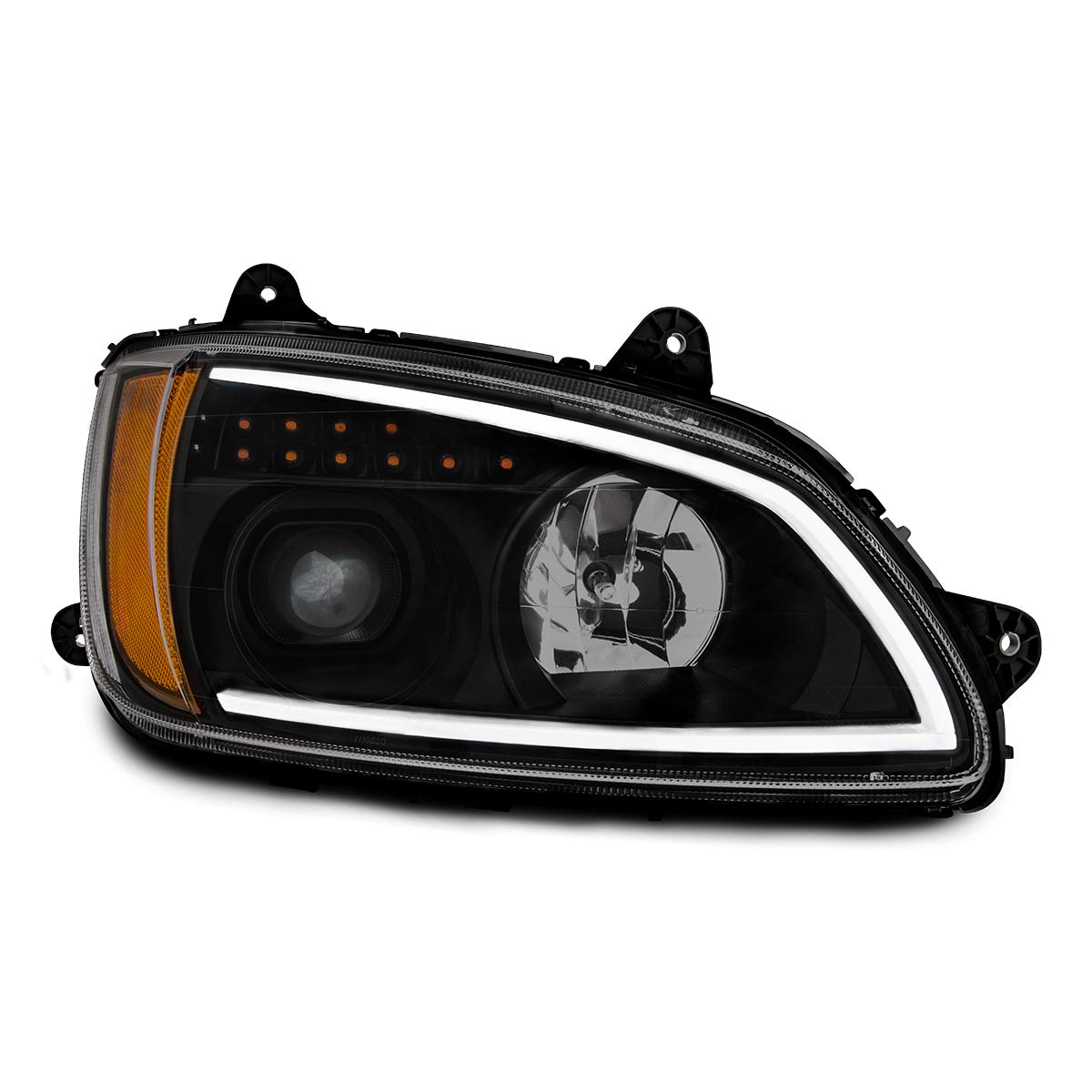 Grand General 89442 Headlight Black Projection with LED Turn//Position, D//S,Kw T660 08+