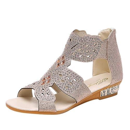 Amazon.com: MomeDAY.❤️ Zapatillas Romanas Mujer ...