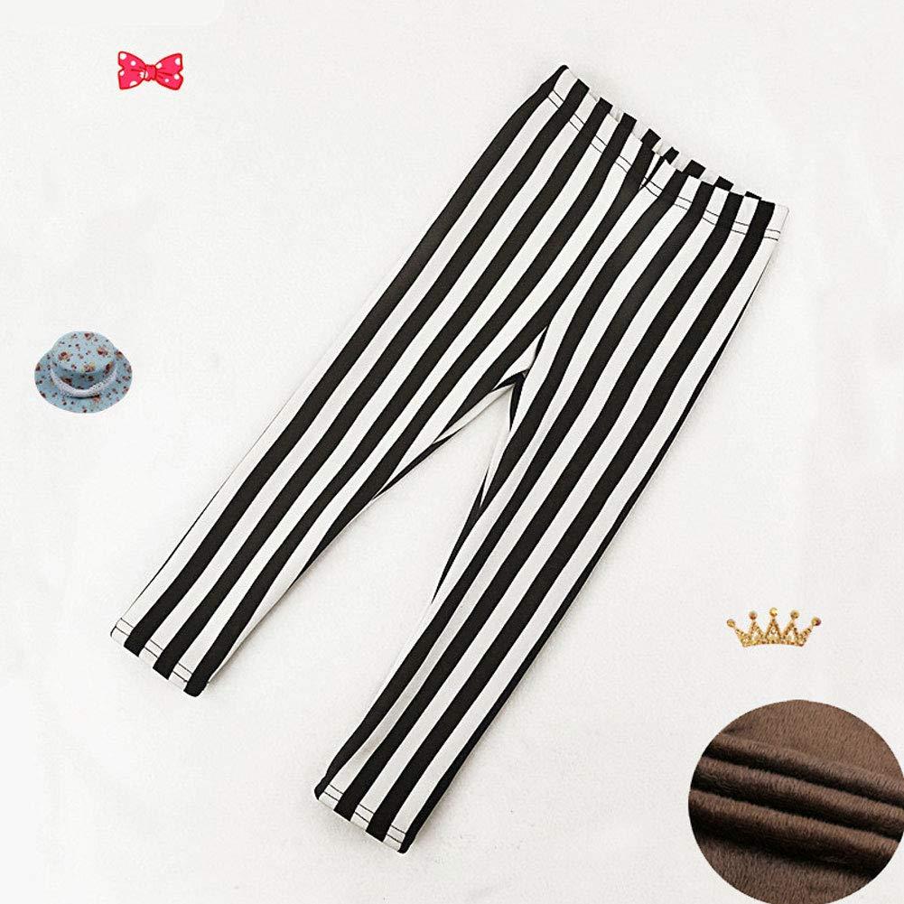 YFPICO Ni/ña Leggings Invierno con Estampado Pantalones El/ásticos Gruesos Leggins Suaves para Oto/ño