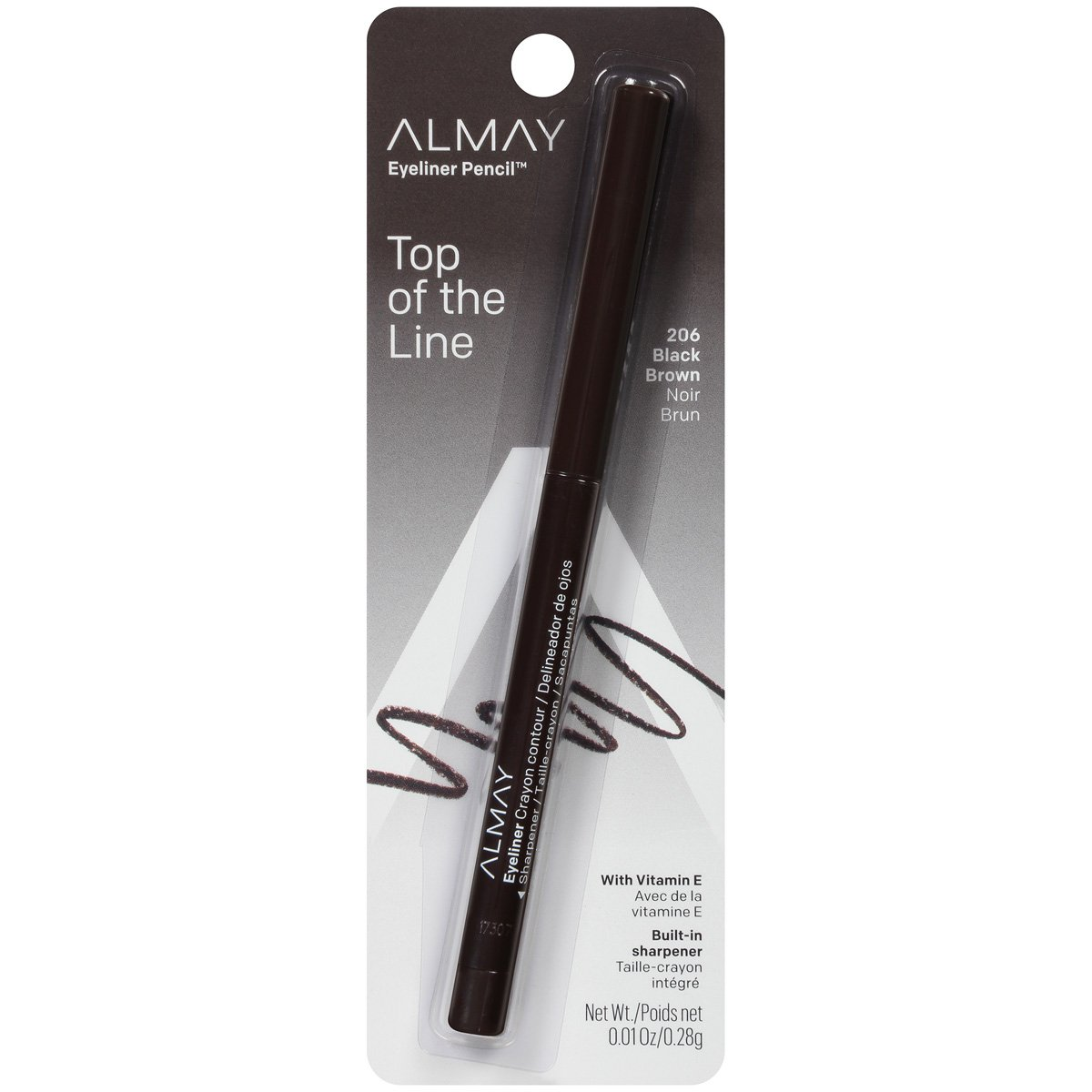Almay Eyeliner Pencil 206 Black Brown 0 01 oz 0 28 g