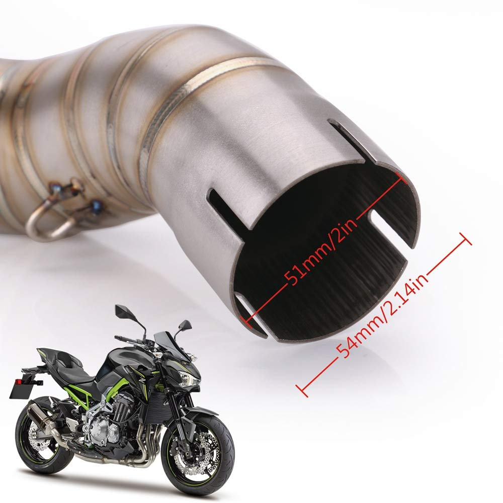 For Kawasaki Ninja z900 2017-2018 Exhaust Escape Slip-on Motorcycle Exhaust Pipe and Link Pipe System