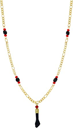 Quite Charming Necklace Black and Red
