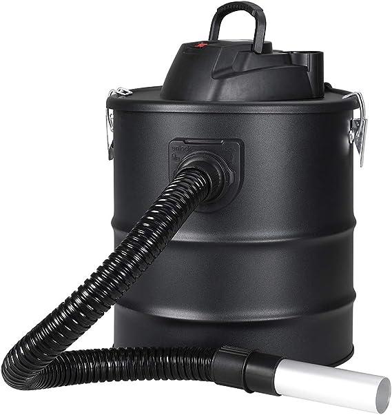 Bakaji aspirador profesional Potencia 1200 W Aspiradora aspira cenizas con función sopladora Filtro Interno Hepa y tubo Campana flexible Capacidad Depósito 20 Lt para limpieza chimenea Chimenea estufa de pellets y a
