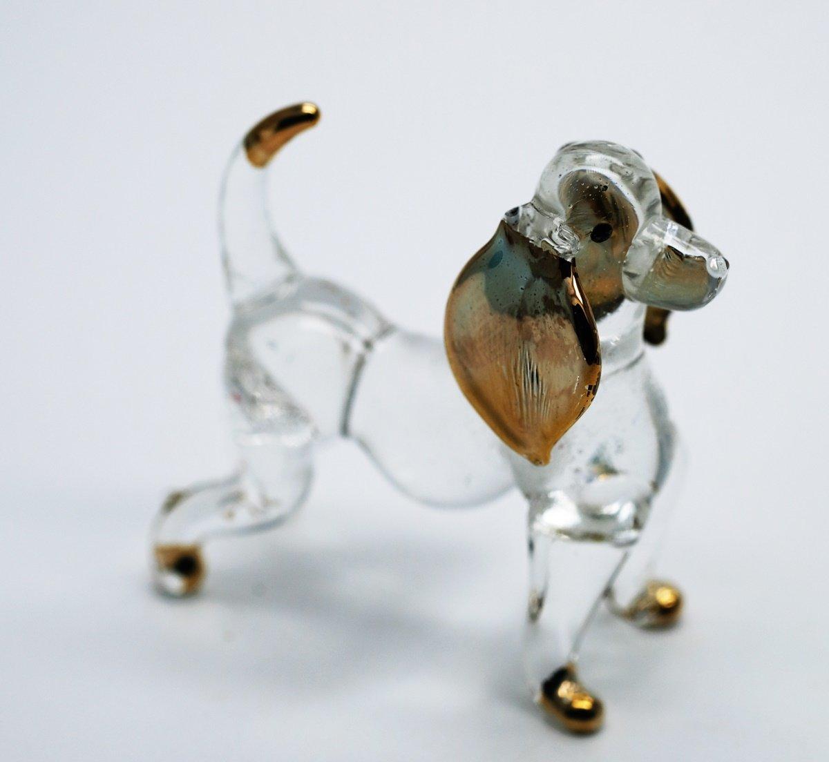 3 D Crystal Toy Gloden Basset Hound Hand Bowl Glass Dollhouse Miniatures Decoration CoolPrice Glass