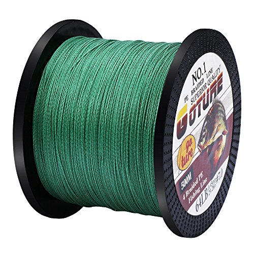 Bass Fishing Line Test - Goture 12LB-80LB Superpower Braided Fishing Line Multifilament High Tension 500M/547Yards Line-Abrasion Resistance Fishing Line for Saltwater Freshwater Fishing, Bass and Trout Fishing