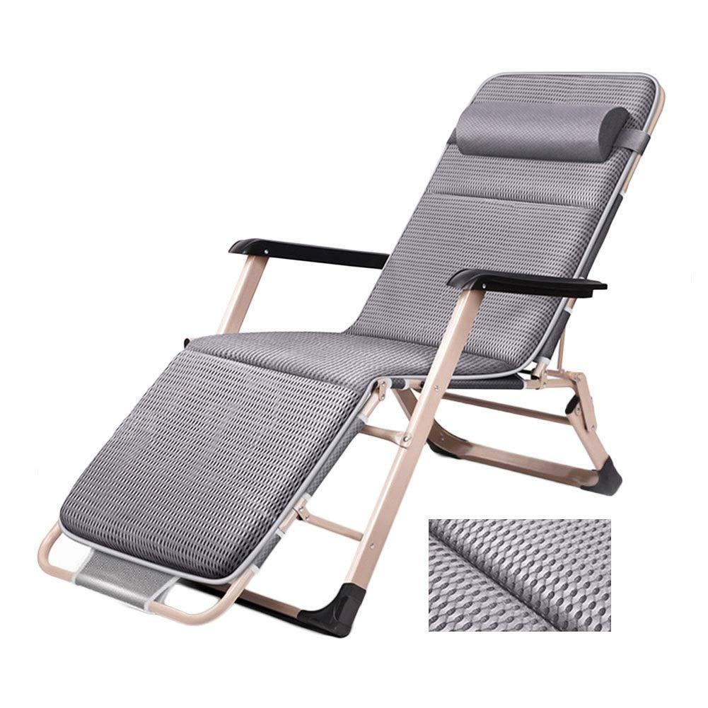 重力長椅子ラウンジパティオラウンジチェア折りたたみガーデンチェア屋外調節可能リクライニングチェア付き通気性クッションサポート200キログラム,B  B B07S3GS3ZL