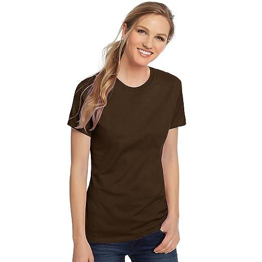 5efbe83adf Hanes Women s Nano-T T-shirt Dark Chocolate at Amazon Women s ...