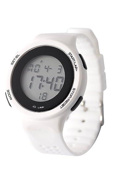 DSstyles reloj digital reloj deportivo relojes para las niñas con luz de cronógrafo de alarma - blanco: silicone: Amazon.es: Relojes
