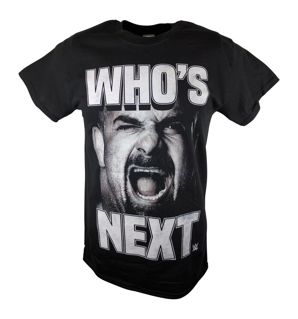 Bill Goldberg Who's Next Screaming WWE Mens T-shirt-XL