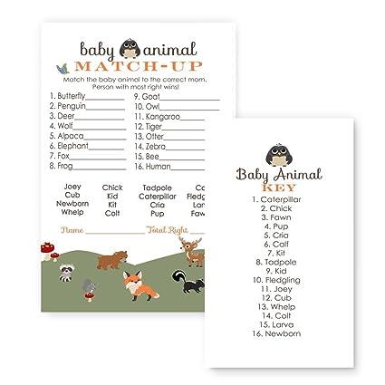 Amazon Woodland Animal Match Baby Shower Game 25 Pack Toys