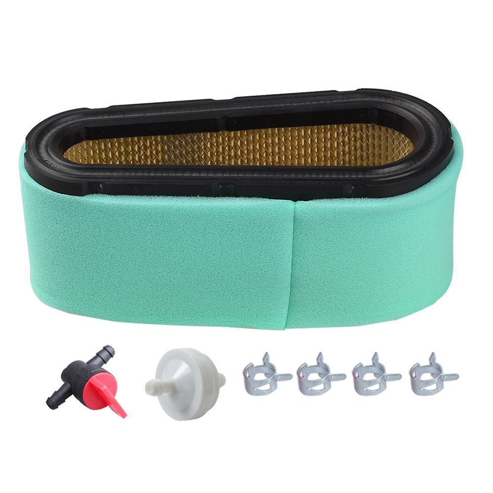 HIPA 496894S 496894 Air Filter 272403S Pre Filter 394358S Fuel Filter 698183 Valve for Briggs & Stratton 12.5 - 17 HP 5053K