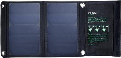 Amazon.com: Panel solar, VINSIC 22 W alta eficiencia Panel ...