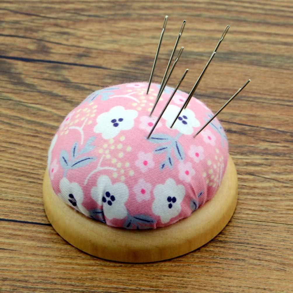 Healifty Handgelenk Nadelkissen mit Holzboden Baumwolle N/ähen Nadelkissen Nadeln Nadelkissen f/ür handliche Handarbeiten DIY Handwerk 2St
