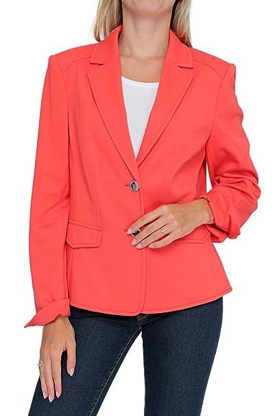 BASLER - Chaqueta de traje - para mujer rojo 50: Amazon.es: Ropa y ...