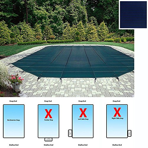 Arctic Armor Mesh Rectangular Safety Cover for 20ft x 40ft In-Ground Pools with 12-Year Warranty Color: Blue (WS390BU)