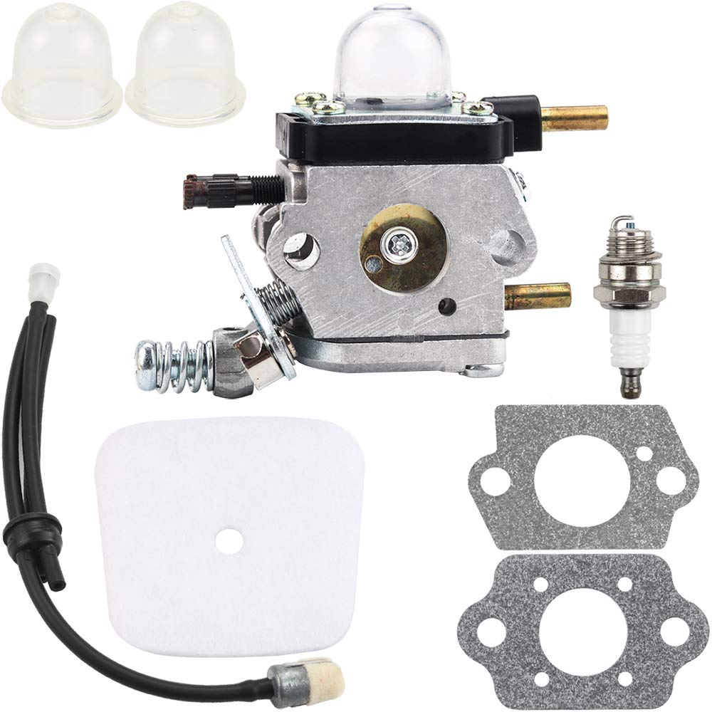 C1U-K54A C1U-K82 Carburetor for 2-Cycle Mantis 7222 7222E 7222M 7225 7230 7234 7240 7920 7924 Tiller Cultivator Echo TC-210 TC-210i TC-2100 w Air Filter Fuel Line Repower Kit