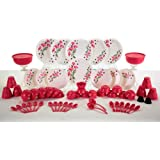 Homray Plastic Dinner Set, 62-Pieces, Multicolour