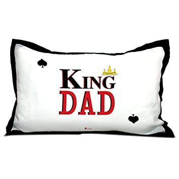 Buy Indigifts Home Decor Father Birthday Gifts King Dad Quote Daddys Crown White Pillow Cover 17x27 Inches Online At Low Prices In India