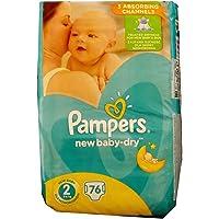 76 nueva pañales Pampers bebé-seco tamaño 2, 3-6