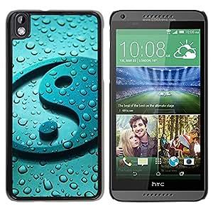 YiPhone /// Prima de resorte delgada de la cubierta del caso de Shell Armor - Yang Water Drop Reflection Fresh Zen - HTC DESIRE 816