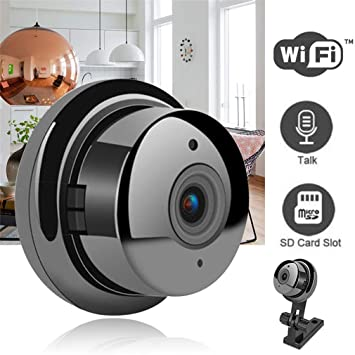 Amazon.com: VR Mini Cámara inalámbrica 720p/WiFi/visión ...