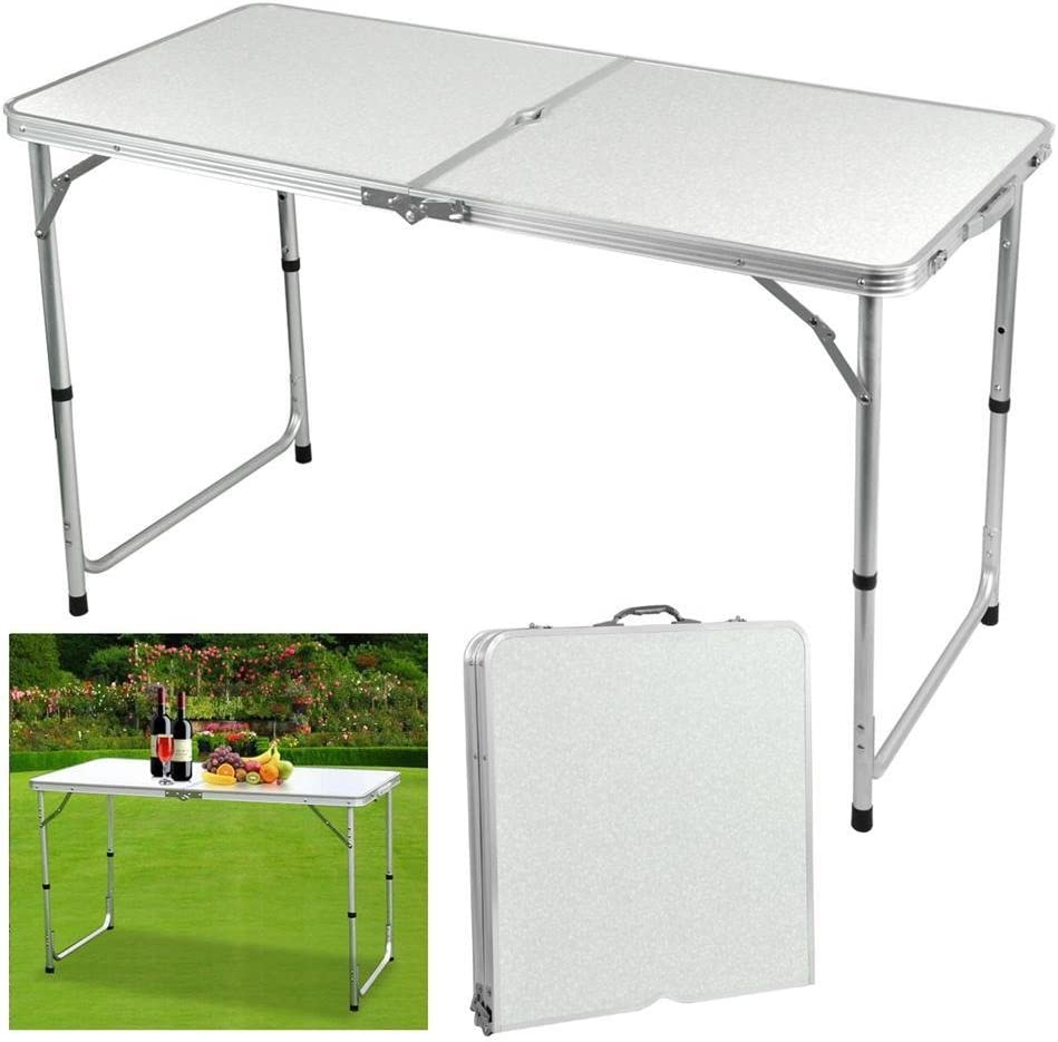 Yaheetech mesa plegable de camping picnic 120 x 60 x 70 cm (altura ...