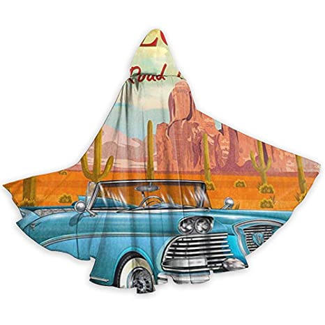 Sobre-mesa Adulto Cape Cloak Route 66 Vintage Arizona Road Trip ...