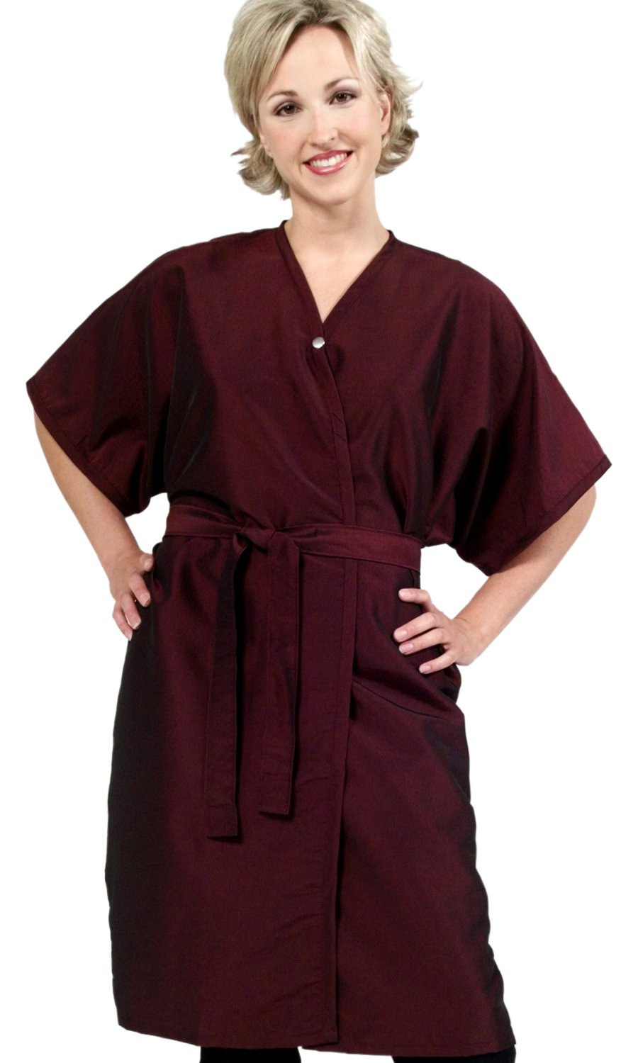 Set of 6 Salon Client Gowns / Client Smocks / Wraps In BLACK Silkarah ''BEST In Industry'' (Save $40) From ProHairTools by The Cape Company (Image #1)