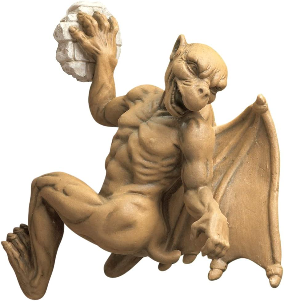 Design Toscano Gaston, the Gothic Gargoyle Computer Climber Statue