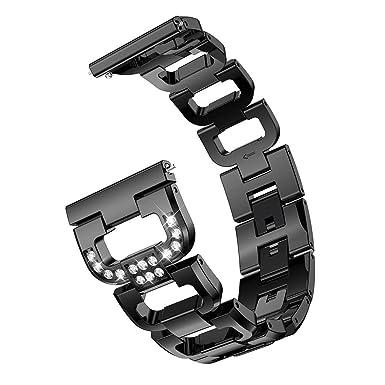 para Samsung Galaxy Watch 42mm Correa, 20mm Correa Universal De 20mm Acero Inoxidable Compatible con Galaxy Watch 3 Pulsera De Repuesto Pulsera De ...