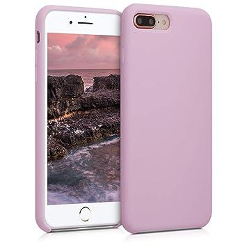 kwmobile Funda para Apple iPhone 7 Plus / 8 Plus - Carcasa de TPU para teléfono móvil - Cover Trasero en Malva Pastel