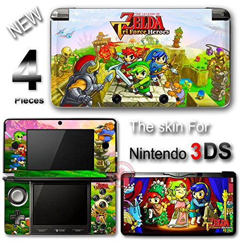 The Legend of Zelda Tri Force Heroes Skin Sticker Decal Cover for Nintendo 3DS (Force Skin Vinyl)