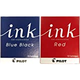 パイロット 万年筆用カートリッジインキ レッド/ブルーブラック 2箱 IRF-12S-R/BB