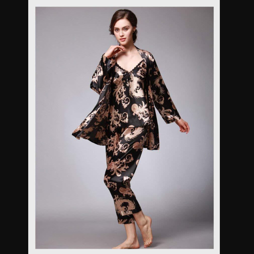 ... Targogo Pigiama Morbido da da Morbido Robes Donna Stampa Sleepwear  Servizio A Domicilio Abito A Tre ... 68f5f993e11f