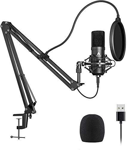 Amazon Com Usb Microphone Kit 192khz 24bit Plug Play Maono Au A04 Usb Computer Cardioid Mic Podcast Condenser Microphone With Professional Sound Chipset For Pc Karaoke Youtube Gaming Recording Musical Instruments