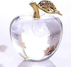 HKDHI Ornament Figurine 80MM Crystal Apple Wedding Crystal Ball Craft
